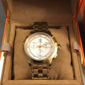Tory Burch Chronographic Stainless Steel Watch